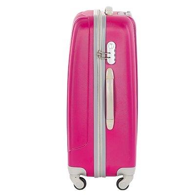 Чемодан пластиковый на четырех колесах розовый купить в Москве  цена ... 9c11341a0ab